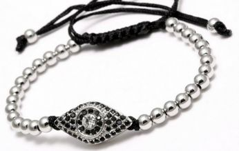 Anil Arjandas Eye Micropave CZ Bracelet