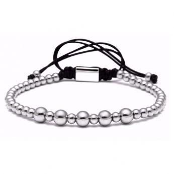 Brooks Men Silver Plated Bracelet