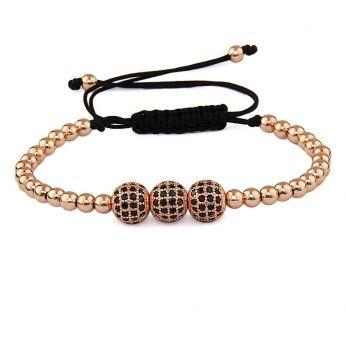 Arjandas Rose Gold 14K Zirconia Bracelet