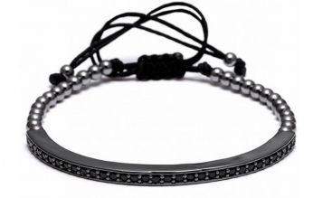 Brooks All Black Zircon Bracelet