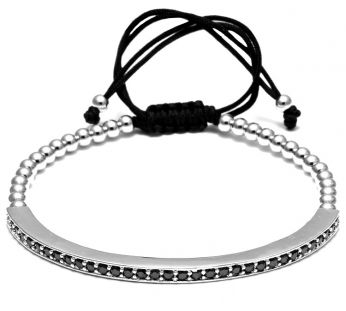 Brooks Zircon Men Silver Bracelet