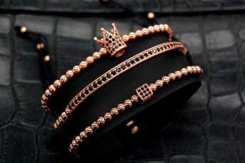 Luxury Set 3 Brooks Rose Gold 14K Bracelets