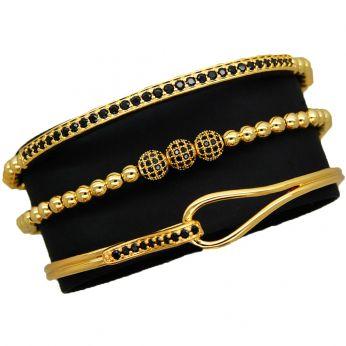 Luxury Set 3 Brooks Gold Bracelets