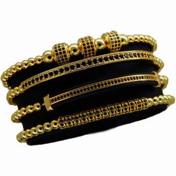 The Original Set 4 Gold Brooks Bracelets