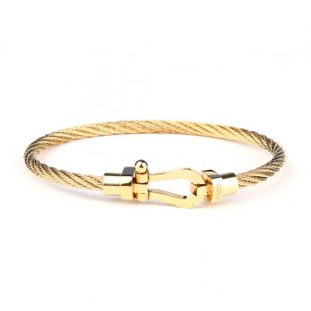 Men Gold Anchor Bracelet