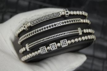 The Original Set 4 Silver Brooks Bracelets