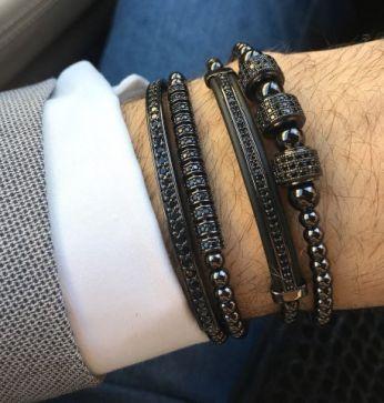 The Original Set All Black 4 Brooks Bracelets