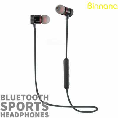 Casti bluetooth in-ear fara fir cu prindere magnetica