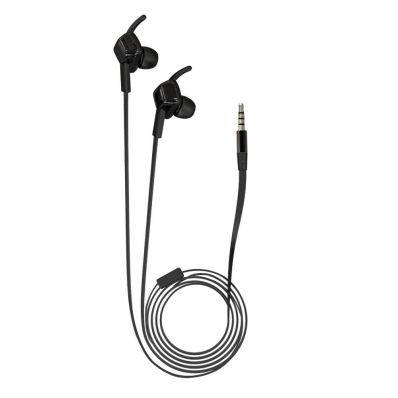 Casti audio in-ear cu fir waterproof IPX4 cu microfon WE204M Black