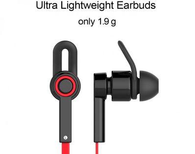 Casti bluetooth in-ear Jabees cu microfon pe fir usoare si confortabile