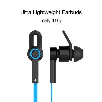 Casti bluetooth in-ear Jabees cu microfon pe fir usoare si confortabile Blue