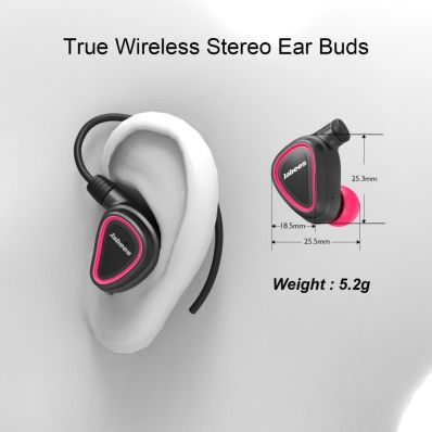 Casti bluetooth sport cu carlige de urechi detasabile Pink