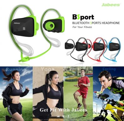 Casti bluetooth sport  over-the-ear sweatproof IPX4 cu NFC