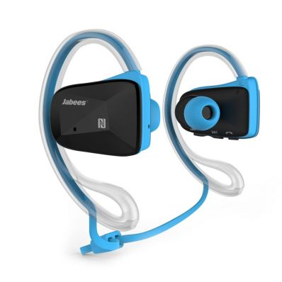 Casti bluetooth sport over-the-ear sweatproof IPX4 cu NFC Blue