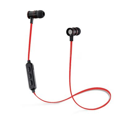 Casti wireless in-ear magnetice cu microfon pe fir