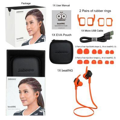 Casti wireless sport in-ear Beating cu bluetooth 4.1 orange