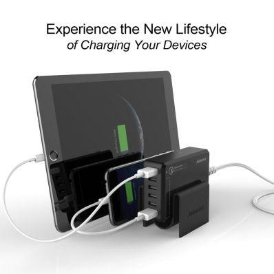 Dock incarcare multiUSB pt telefoane si tablete NEGRU