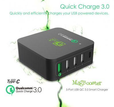 Dock de incarcare cu multi-USB si QualComm Quick Charger 3.0