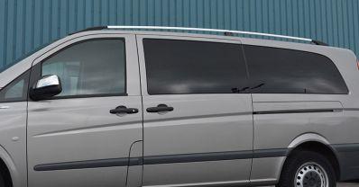 Bare longitudinale Premium, Mercedes Vito 2004-2014 mediu crom