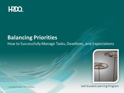 Balancing Priorities E-Learning