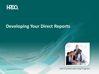 Developing your direct reports E-Learning