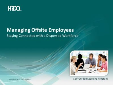 DEMO GRATUIT: Managing offsite employees E-Learning