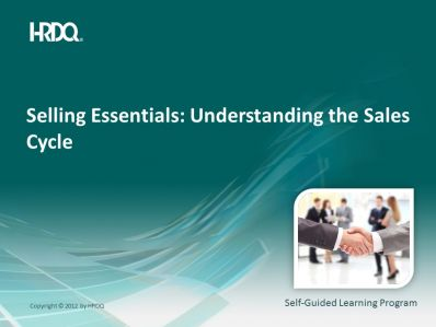 DEMO GRATUIT: SELLING ESSENTIALS: Understanding the sales cycle E-Learning