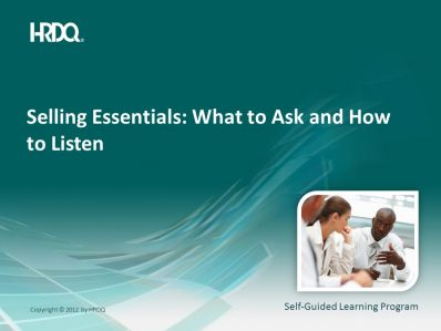 SELLING ESSENTIALS: What to ask and how to listen E-Learning