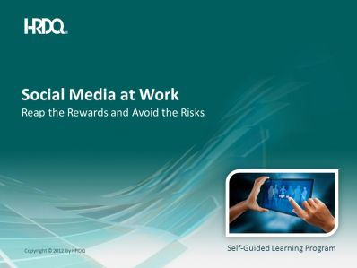 Social media at work E-Learning