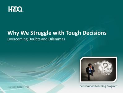Why we struggle with tough decisions E-Learning  (engleza & traducere in romana)