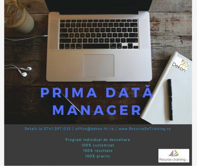 Prima data Manager - Program Individual de Dezvoltare