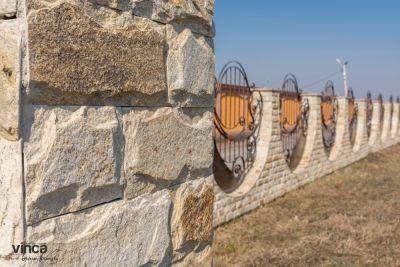 Placare gard piatra naturala - Casa Roman, Neamt