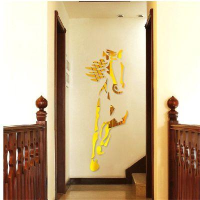 Sticker acrilic 3D Horse 150x54 cm Gold