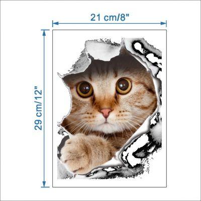 Sticker decorativ Here I am - Cute Kitty 29 x 21 cm