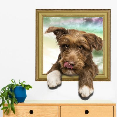 Sticker decorativ Here I am 3D Dog 50x40cm
