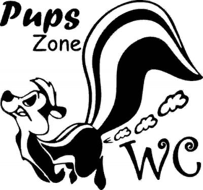 Sticker decorativ Pups Zone 23x24cm