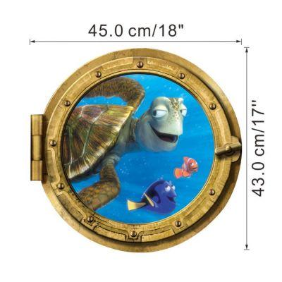 Sticker decorativ Turtle 45 x 43 cm