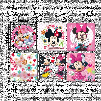 Sticker intrerupator Minnie cu evantai 9x9 cm