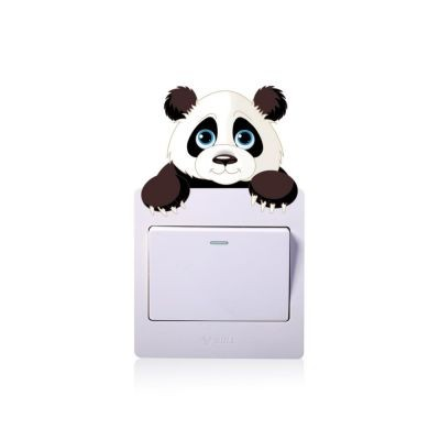 Sticker intrerupator panda 9 x 10 cm