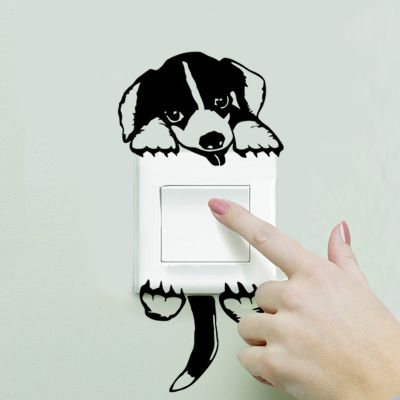 Sticker intrerupator Puppy