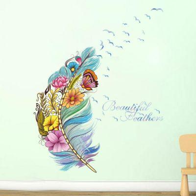 Sticker perete Beautiful Feathers