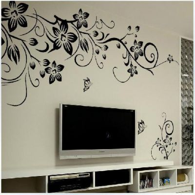 Sticker perete Black Flower Decor 6