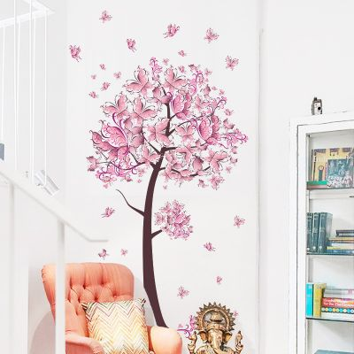 Sticker perete Butterflies Tree