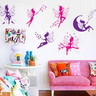Sticker perete Colorful Fairies