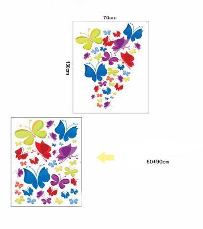 Sticker perete Colourful Butterflies