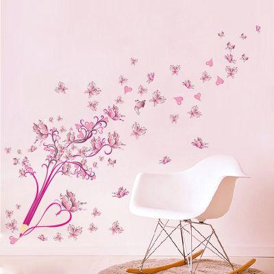 Sticker perete Drawing Butterflies