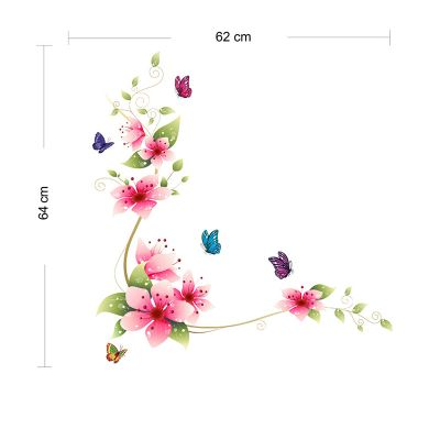 Sticker perete Flower Decor Multicolor