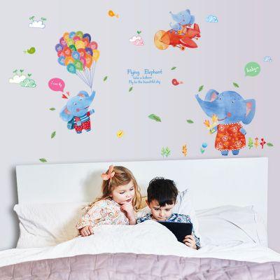 Sticker perete Flying Elephants