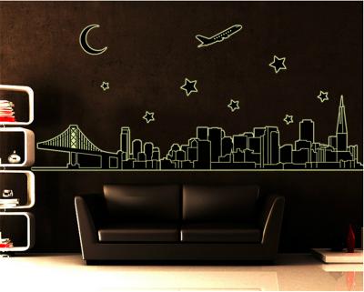 Sticker perete Glow in the Dark City