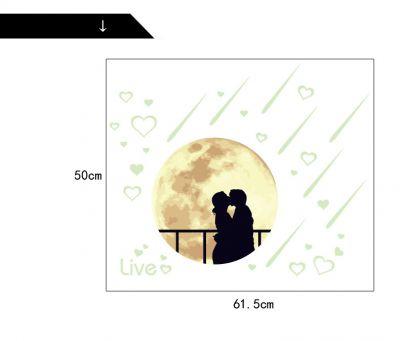 Sticker perete Glow in the Dark Moon Lovers